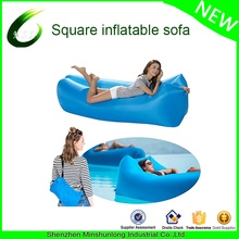 New square design lightweight 3 season inflatable hangout sofa air sleeping bag lounger laybag