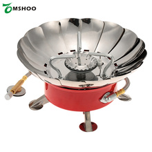 Retracted Gas Stove Camping Survival Cooking Stove Gas Outdoor Windproof Backpacking Furnace Stove for Flat Butane Gas Cartridge
