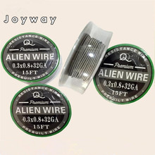 5m 15ft SS 316L Alien Mix twisted Quad Tiger Heating Resistance rda Wire Premade Coil Flat twisted wire Fused clapton coils Hive(China)