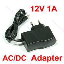 AC100V-240V to DC 12V 1A EU Plug Power Supply Adapter Wall Charger DC 5.5mm x 2.1mm 1000mA-Y122