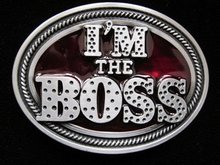 I'M THE BOSS BELT BUCKLE
