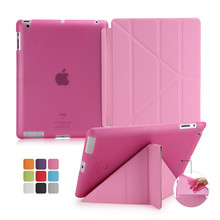 case for apple Ipad4 protective sleeve of ultrathin for ipad2 3 protective sleeve with dormancy leather cover case protection(China)