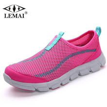 LEMEI 2017 New Comfortable Women Athletic Shoes Summer Breathable Air Mesh Sneakers For Women Super Light Walking Shoes AM.012