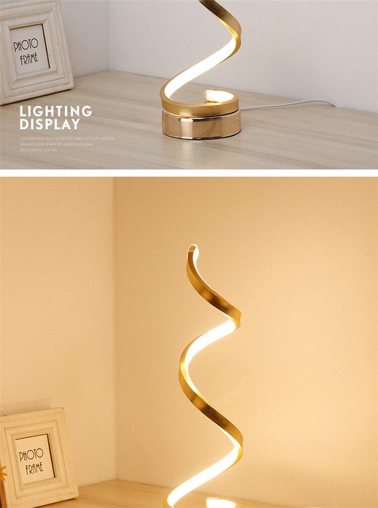 Ultra Modern White/Gold Table Lamp