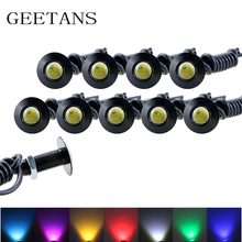 Ultra thin 23mm DRL Car led 12V Daytime Running light source 10 pcs waterproof Eagle eye lamp /Parking Warning Light CE(China)