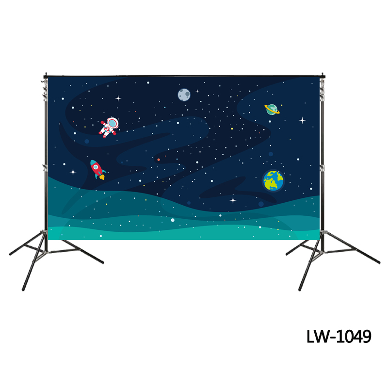 cartoon spaceflight backdrop birthday party background astronaut photo studio backdrop photo booth spaceman Astronomy backdrops
