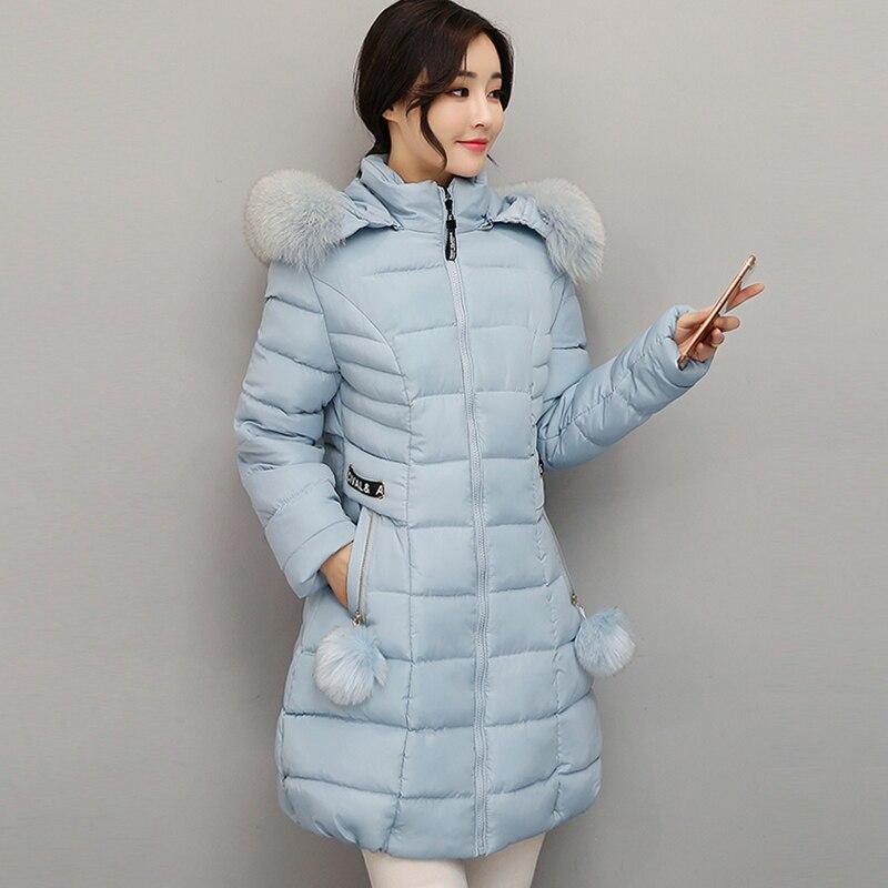 Big fur collar long hooded women winter jacket plus size 3XL warm female coat parka padded casacos de inverno femininoÎäåæäà è àêñåññóàðû<br><br>