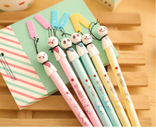 2pcs/set Huarache Free Shipping Japanese Sunny Doll Student Gel Pen Girl Ball Point Ink Pen cute Stationery Gift Wholesale K7420