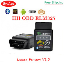 5pc/lot HH ELM327 Mini elm 327 Bluetooth OBD2 OBDII Diagnostic Tool elm-327 Scanner for Android/Smartphone/PC/PAD(China)