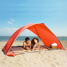 Beach outdoor tent single layer tent Coated silver Ultralight  Summer camping fishing Tent Canopy only blue available