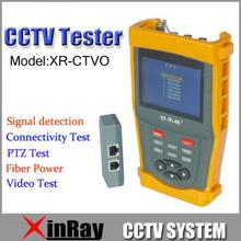 "Fress Shipping!!3.5"" LCD CCTV Tester  XR-CTVO PTZ control Video striped testing Communication Optical Power Meter"