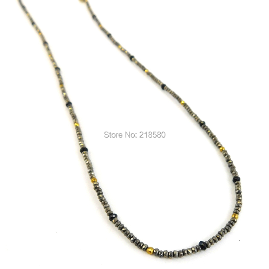 Pyrite Beads Long Layering NECKLACE NM24311