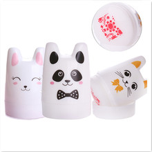 Cute Nail Art Stamper Rabbit Panda Cat Design 3.5cm Silicone Head with BORN PRETTY Scrapers Manicure Nail Stamping Tool Set