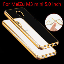 For Meizu M3/M3S Mini Case Luxury Rose Gold Plating Crystal TPU Case For Meizu  M3S M3 S mini Clear Soft Silicon Cover Back Case