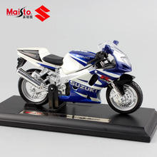 1:18 scale Children's miniature SUZUKI GSX R750 metal die casting model motorcycle kids auto toys race cars for boys Free Wheels