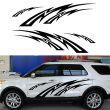 2 X Heaven Lightning Flame Passion Exciting Artistic Streak Car Stickers for Camper Van RV SUV Kayak Canoe Vinyl Decal 9 Colors