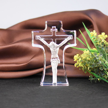 Crystal Cross Jesus Decoration Ornament Home Decoration Church Church Supplies Christmas Gifts(China)