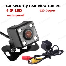 best selling 120 Degree view angle Night Vision reverse camera CCD security car rear view camera 4 LED