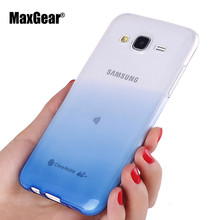 Ultra-Thin Gradient Soft TPU Cover For Samsung Galaxy J5 J500 j500F J7 J700 J1 Ace 2015 Case Colorful Back Skin Phone Case