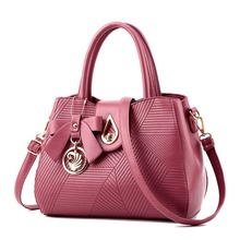Famous Brand Women Bag Top-Handle Bags 2017 Fashion Women Messenger Bags Handbag Set Leather Composite Bag #150 rubber purple