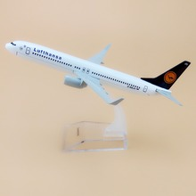 Alloy Metal Air Germany Lufthansa B737 Airlines Airplane Model Lufthansa Boeing 737 Airways Plane Model Aircraft Kids Gifts 16cm(China)