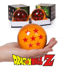 With Color Boxed 7.6cm Dragon Ball Crystal Ball PVC Action Figure Toys Dragonball Z Toy 1~7 Star Dragon Ball Z Great Gift