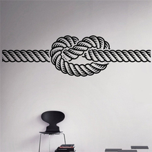 Marine Knot Wall Vinyl Decal Sea Nautical Wall Sticker Home Wall Art Decor Ideas Wall Interior Removable Kids Room Design #M221(China)