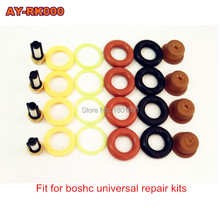 4pieces/set high quality Fuel injector repair kit for bosch universal including micro filter o-ring plastic gasket pintle cap(China)