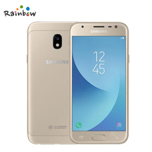 "Original Samsung Galaxy J3 2017 J3300 Unlocked 5.0"" Dual SIM Fingerprint 13.0MP Snapdragon Quad Core LTE Smartphone With NFC(China)"