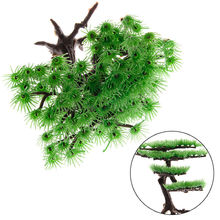 Water Aquarium Glass Artificial Plants Fish Tank Decoration Accessories Simulation Moss Tree Pet Supplies JJ2834