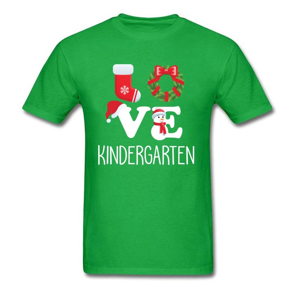 Love Kindergarten Shirt Teacher Christmas Gift_green