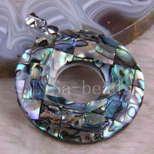 Free Shipping New without tags Fashion Jewelry Blue New Zealand Abalone Shell Pendant 1Pcs RK710