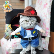 Cute Pet Dog Clothes Suit Pirate Cat Suit Dog Products Dress Coat Jacket Perform Halloween Christmas Cosplay Costumes