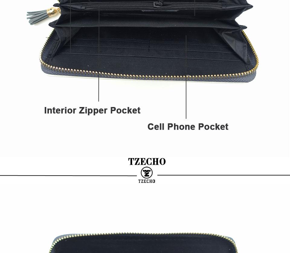 HTB1yMCqRFXXXXciXFXXq6xXFXXXo - TZECHO Women Wallets PU Print Dream Catcher Carton Long Ladies Purses Coin Pocket Card Holder Clutch Zipper Wallets for Women