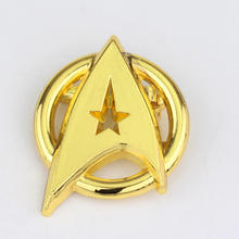 Drop Shipping Metal USS Enterprise Symbol Brooches Pins Star Trek Into Darkness Logo Movie Brooch Pins Men Gift