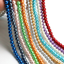 4 6 8 10MM 20-100PCS Glass Pearls Round Imitation Pearl Beads DIY Bracelet Earrings Charms Necklace beads for Jewelry Making(China)