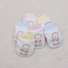 Spring 0-3months 100% cotton baby proof gloves Neonatal gloves comfortable breathe freely baby gloves newborn baby mitten B020