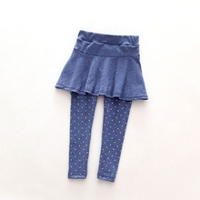 New Cute Baby Kid Pantskirt Girl Wool Culotte Pants Child Legging Trousers Dress