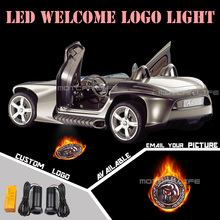Universal Fit Car Door Welcome Light Projector Laser GOBO Logo Light Welcome Ghost Shadow Puddle Emblem LED Spotlight(China)