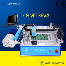 2 cameras Vision system CHMT36VA Desktop Pick and Place Machine, Embedded Linux, Closed-loop control, 0402-5050,SOP, QFN,TQFP..(China)