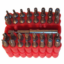 33pc Security Magnetic Bit Set Screwdriver Holder Torx Hex Star Security Tamper Proof Torq Torx Hex Bit Set 60mm Magnetic Holder