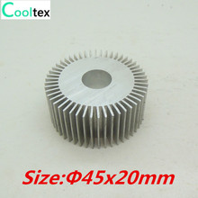 2pcs/lot LED heatsink ,Diameter :45mm  H:20mm,aluminum heat sink , LED cooler  ,LED radiator