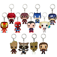 Marvel Harley Quinn Tree Man Groot Batman Superman Spiderman Guardians of the Galaxy Action Figure Anime Game Gift Toy Keychain