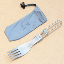 Keith 2016 New Titanium Fork Outdoor Tableware Camping Cutlery Portable Folding Pure Titanium Fork Environmental 16g KT303