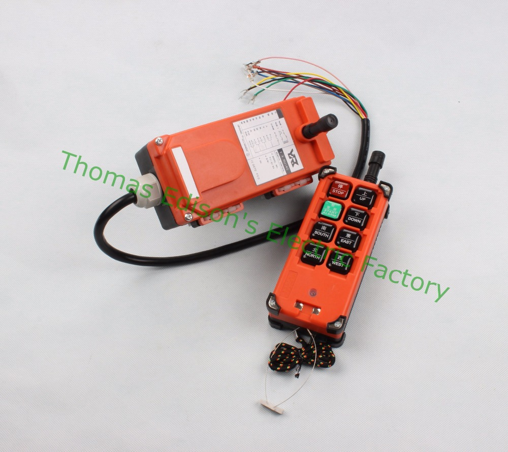 DIANQI Industrial remote control hoist crane push button switch with 8 buttons 1 receiver+ 1 transmitter  for truck hoist crane<br>