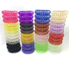 4CM High Elastics Hair Band Women Traceless gum Small Ultra Transparent Telephone line Hair Rope Horsetail Girls Hair Acessories