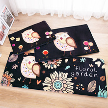 Owl Carpet 45*120cm Kitchen mat Cartoon home carpet door antislip rugs Christmas decor floor rugs modern Fish Animal door mat