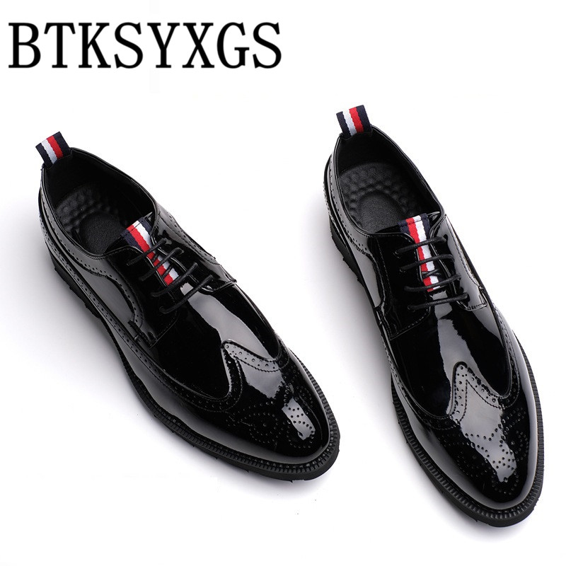 BTKSYXGS 2017 Mens shoes flats Man leather Fashion Comfortable Breathable Men casual shoes Male High quality SIZE 37-46 Color 7<br>