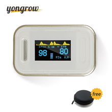 Yongrow Oximetro Pulse Oximeter De Pulso De Dedo Fingertip Pulse Oximeter Golden Color Pulsioximetro Oled Heart Rate Monitor(China)