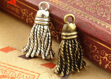 12*20MM Antique bronze jewelry pendant tassel accessories wholesale manufacturers bulk Mop charms, tibetan silver bracelet charm(China)